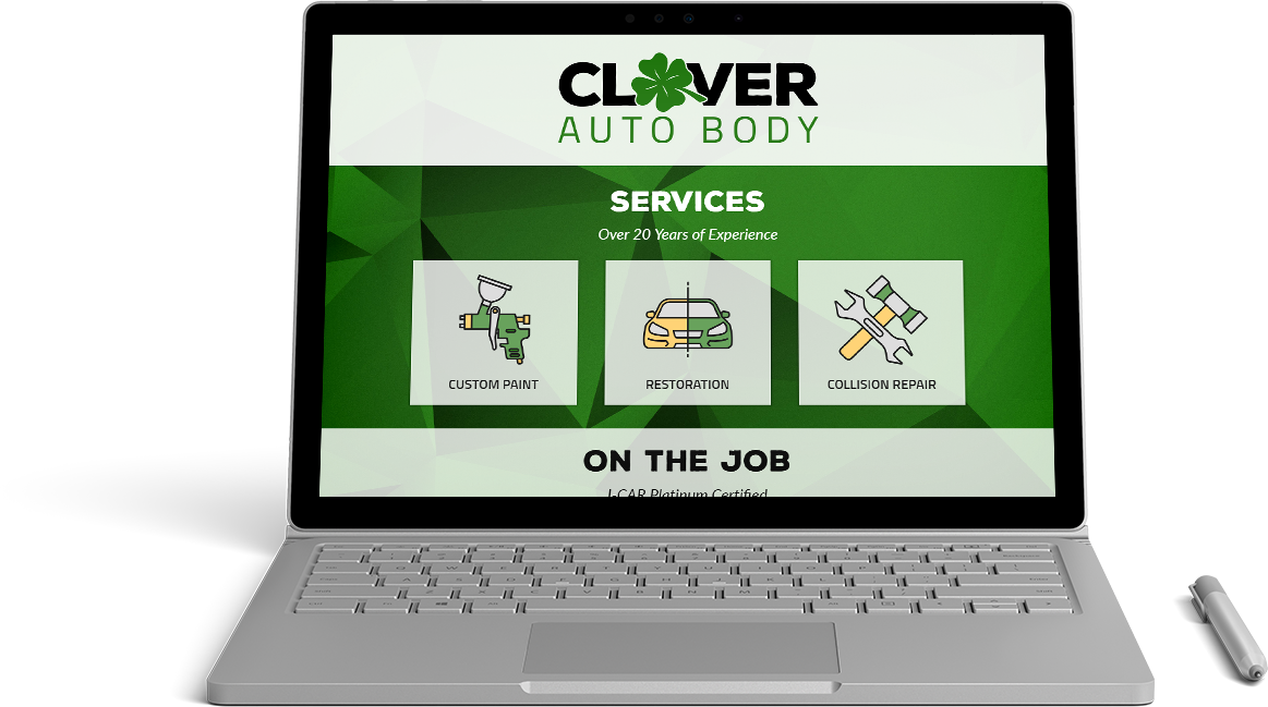 Clover Auto Body Website Preview