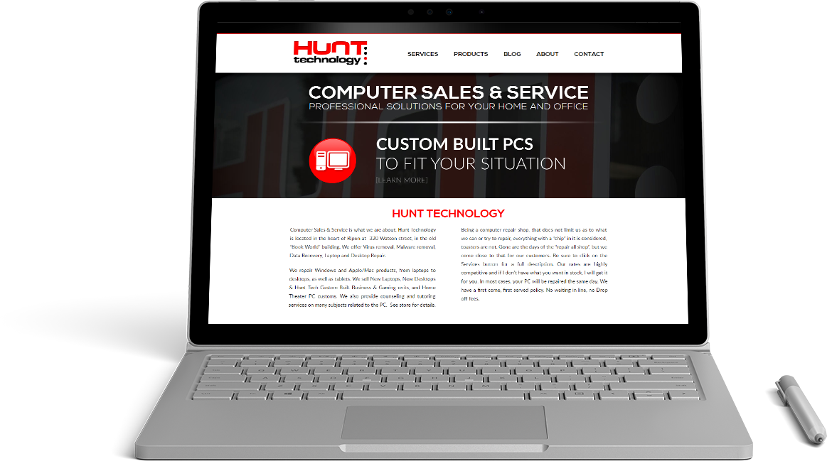 Hunt Technology Website Preview
