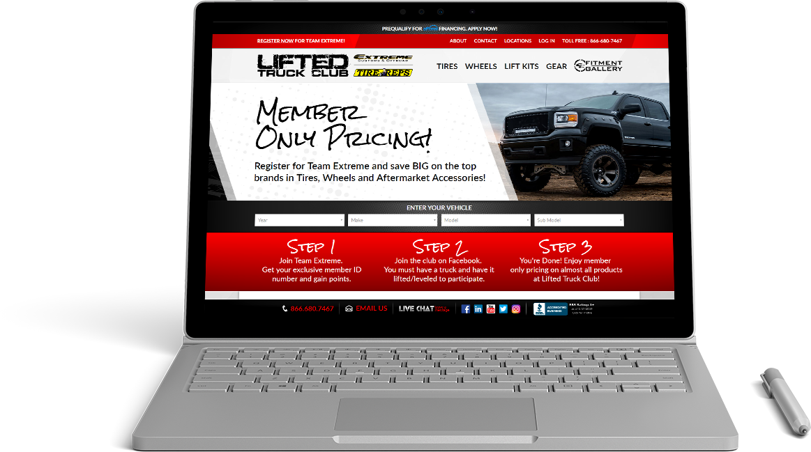Lifted Truck Club Website Preview
