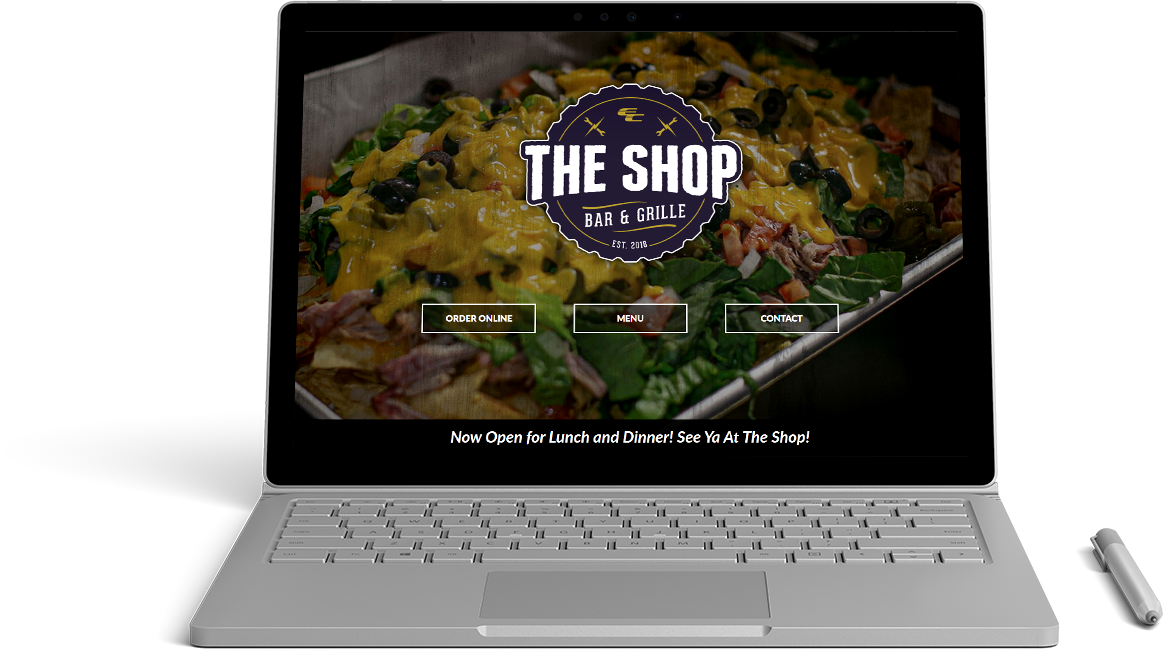 The Shop Bar & Grille Website Preview