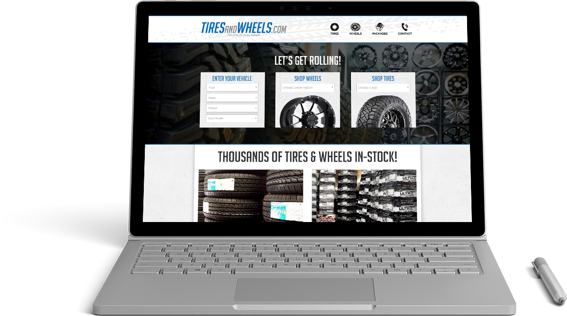 Tires and Wheels Website Preview